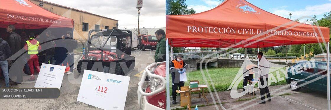 Tendas dobráveis Rescue Qualytent, tendas para tendas para emergência