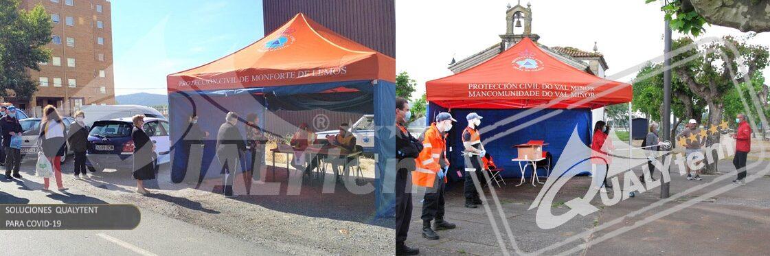 Tendas dobráveis Rescue Qualytent, tendas para triagens ou intervenções