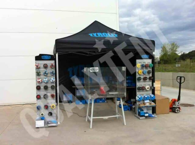 Tenda rotulada para Tyrolit, tendas dobráveis de 3x3m Premium