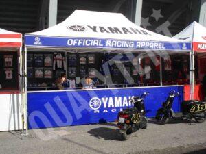 Tendas personalizadas Yamaha, tendas de 6x4m para desporto motorizado