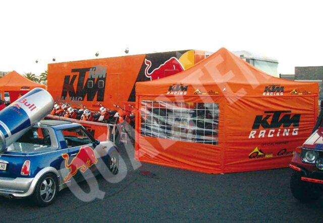Tendas personalizadas para KTM da Qualytent