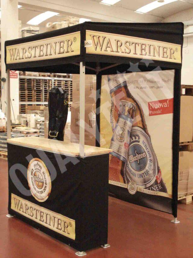 Tendas dobráveis personalizadas Warsteiner de 1.5x1.5m Premium