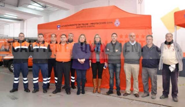 Tendas dobráveis para Proteção Civil de Telde