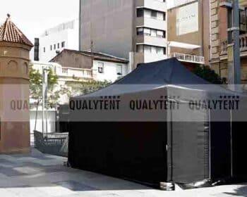 Tenda dobrável de cor preta Qualytent de 4x6m