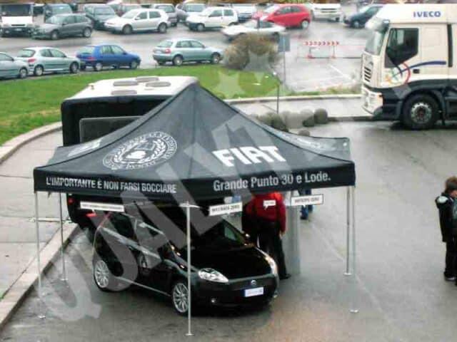 Tendas dobráveis para desporto motorizado personalizadas