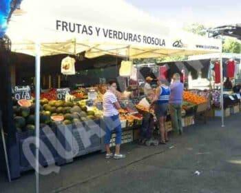 Tendas dobráveis para mercados e fruteiros