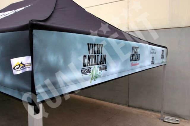 Impressão digital de tendas para eventos desportivos