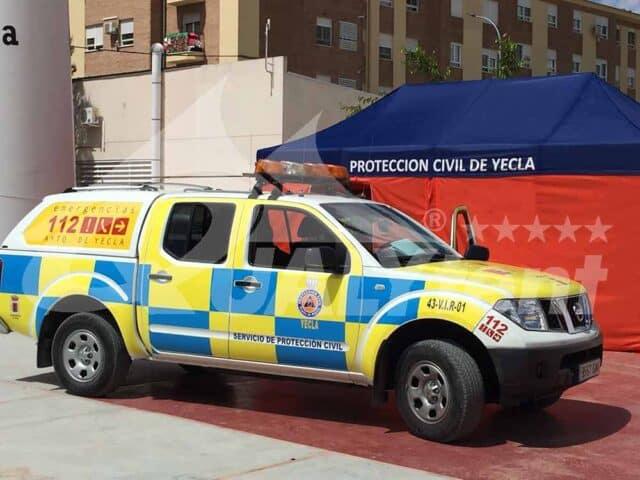 Tenda dobrável 3x6m Proteção Civil Yecla