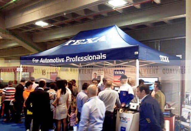 Tenda de 6x4m Qualytent S-45 rotulada para a empresa Texa