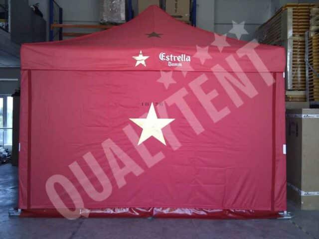 Tenda personalizada de 4x4m de cor vermelha