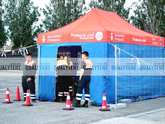 Tenda dobrável Rescue de 4.5x3m QT S-45 para a Proteção Civil de Amposta