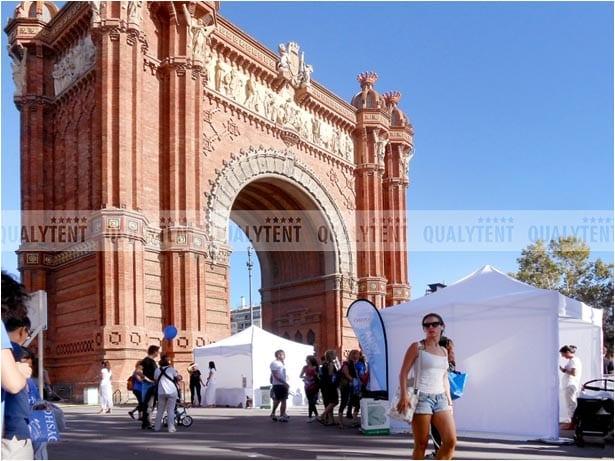 Tendas em Barcelona de 3x3m para eventos desportivos