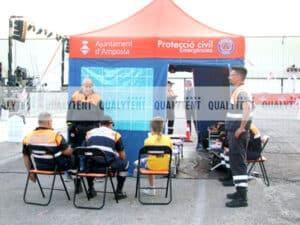 Tenda Rescue de 4.5x3m para a Proteção Civil de Amposta
