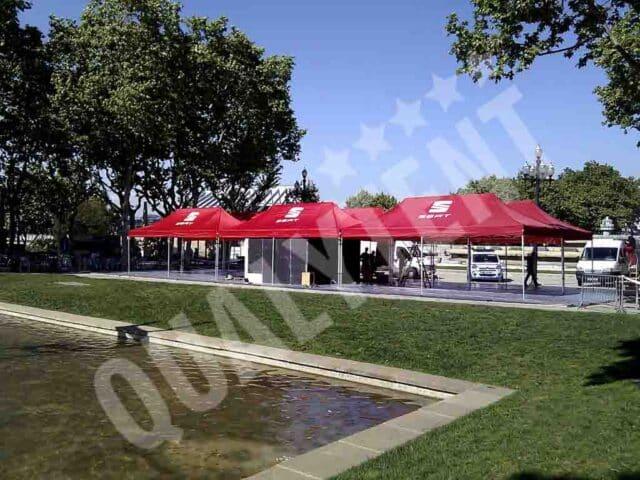 Tendas dobráveis para eventos e feiras, montagem modular de 8x24m