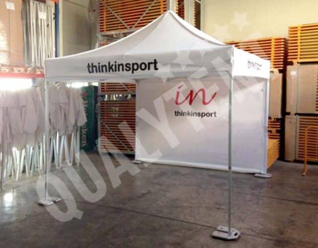 Tenda personalizada para Thinkinsport da Qualytent
