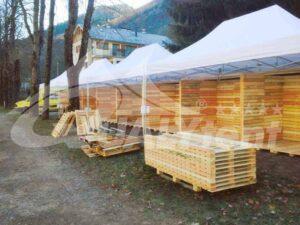 Tenda modular de 4x30m com cinco tendas de 6x4m QT S-45 Premium