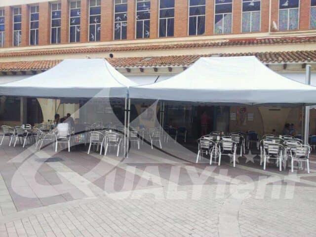 Montagem modular de tendas dobráveis, módulo de 12x4m