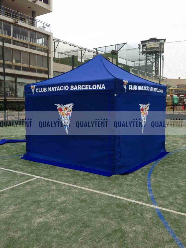 Tendas personalizadas de 3x3m para clubes desportivos